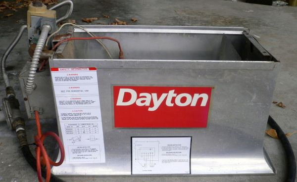 Dayton Model 3e132d Industrial Comercial Infrared Heater