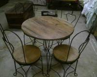 Antique ice cream parlor table and chairs for sale