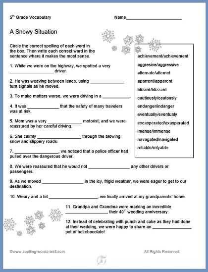 2nd Grade Vocabulary Worksheets together with 5th Grade Vocabulary