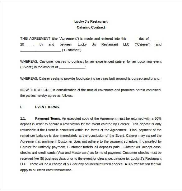 Catering Contract Worksheet Also Catering Proposal Letter This Page