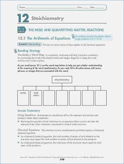 Conservation Of Mass Worksheet - Semesprit