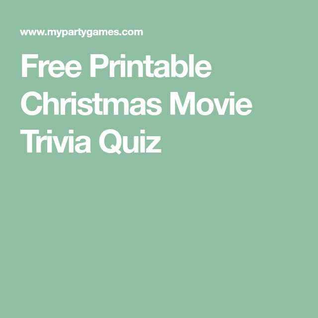 Printable Movie Trivia Questions And Answers - Printable 360