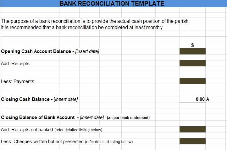 Checking Account Reconciliation Worksheet together with Bank