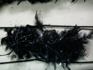 """I've cut an 12"""" section of boa, which will be twisted between two sets of pipe cleaner."""