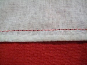 A finished French Seam.
