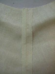 seam allowances sewn