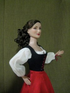 bodice, side front