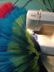 sewing the final layers