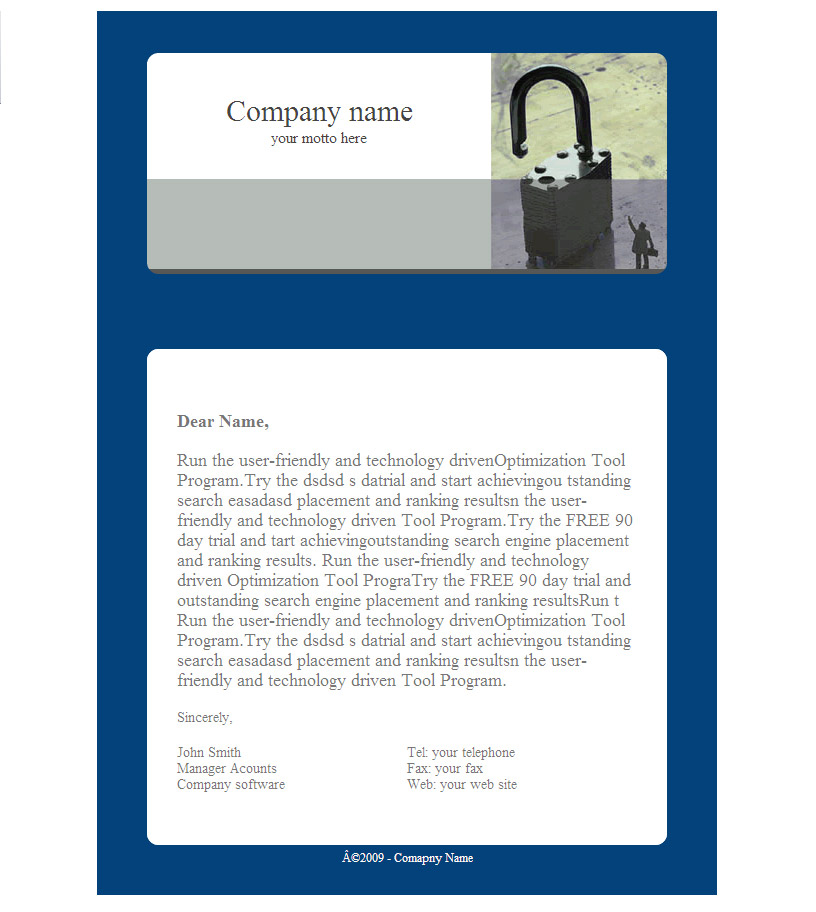 Free Email Templates SendBlaster - business email template