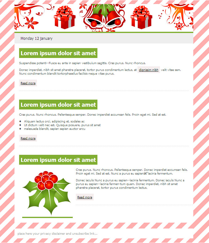 Free Email Templates SendBlaster - free christmas letter templates