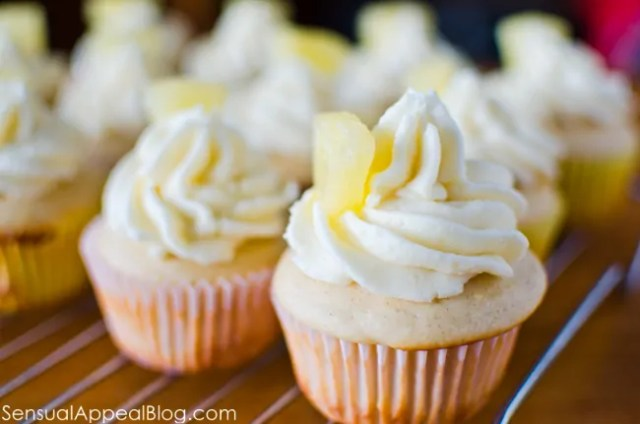 Pineapple Cupcakes using Greek Yogurt