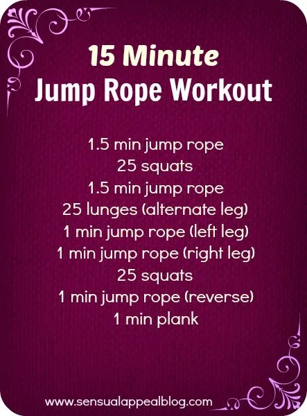 Exercise routine with jump rope length