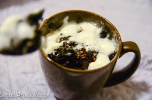Single Serving S'mores Cake in a Mug by sensualappealblog.com