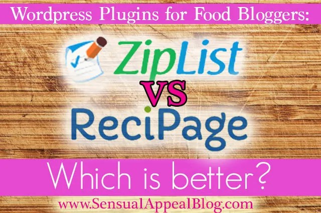 ZipList vs Recipage - Which is a better plugin for Food bloggers?