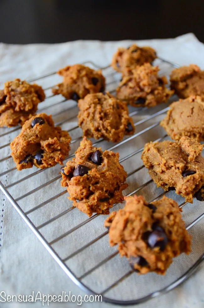Pumpkin Chocolate Chip Cookies Recipe (healthier)