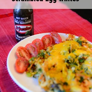 Spicy Veggie & Cheese Scrambled Egg Whites (Breakfast with Habanero Hot Sauce) #SauceOn #Shop #Cbias