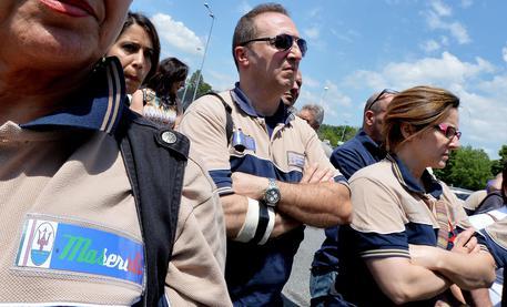 Sciopero lavoratori Maserati a Torino