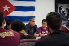 Un momento dell'incontro con l'Ambasciata di Cuba