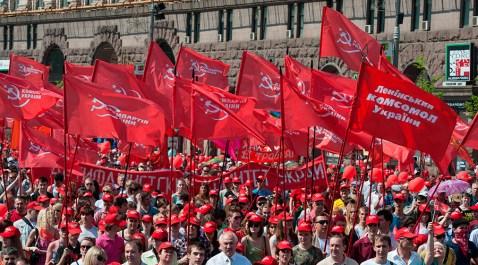 Il Partito Comunista di Ucraina (KPU) aveva ottenuto il 13% dei voti nelle elezioni del 2012