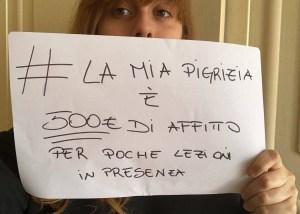 La protesta degli studenti della Sapienza contro le parole della rettrice sul ritorno in presenza