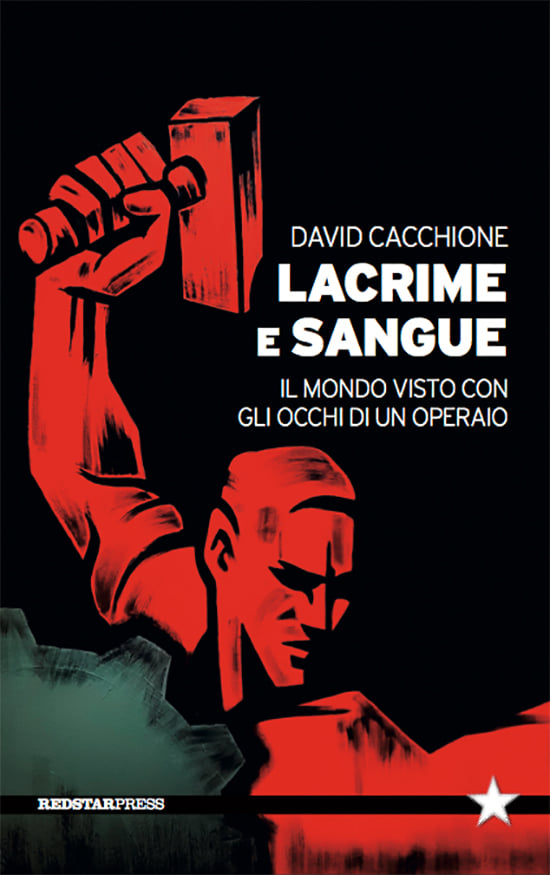 """Copertina del libro, particolare dal quadro """"Classe operaia"""" di Federica Vasselli, progetto grafico di Fabrizio de Finis"""