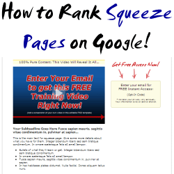 Getting Squeeze Pages to Rank on Google