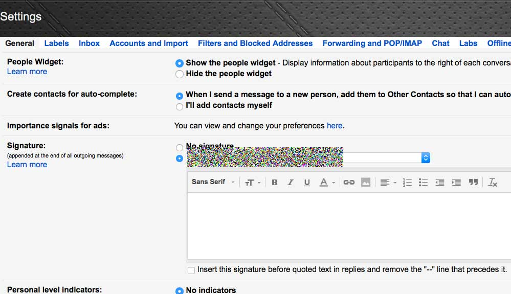 How to remove signatures in Gmail Replies -