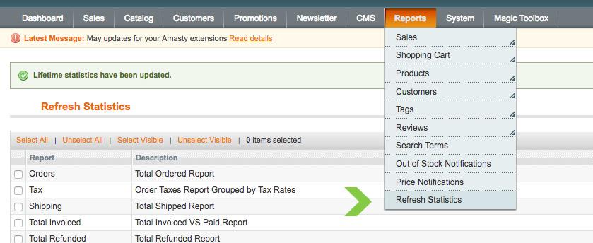 Magento Sales Report Empty - How to Fix -