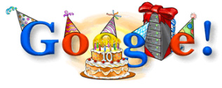 Aniversario 10 Google