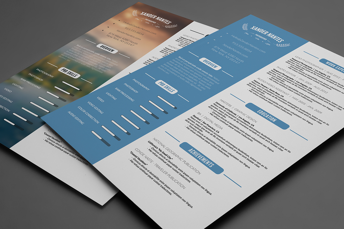 template photoshop cv gratuit