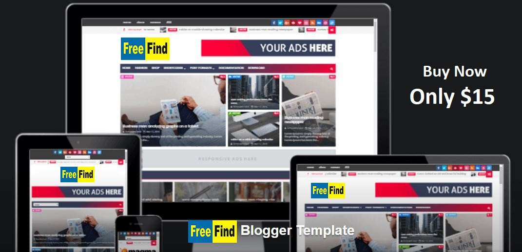 Buy Responsive Beautiful  Professional Blogger Templates for $15