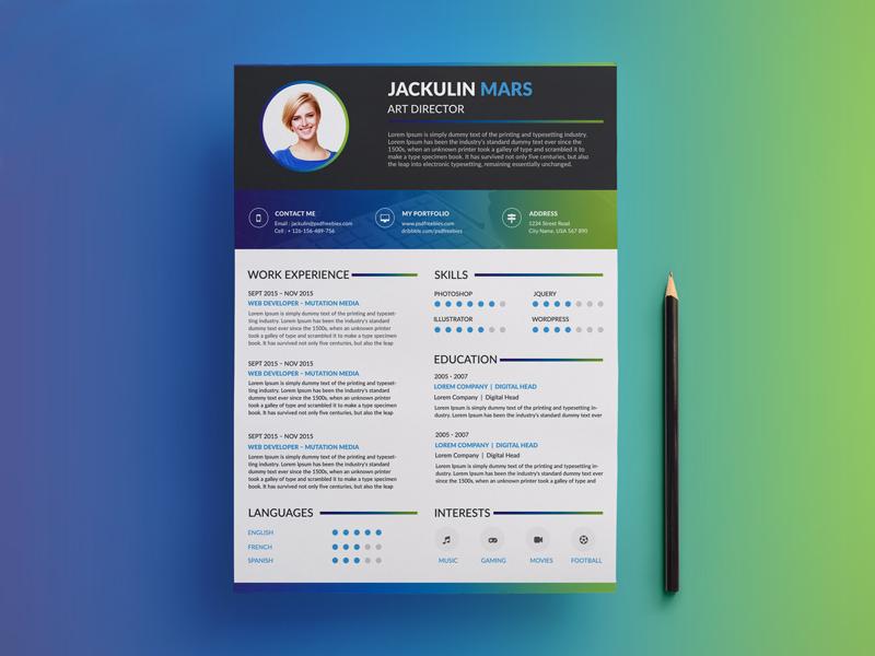 free downloadable unique resume templates