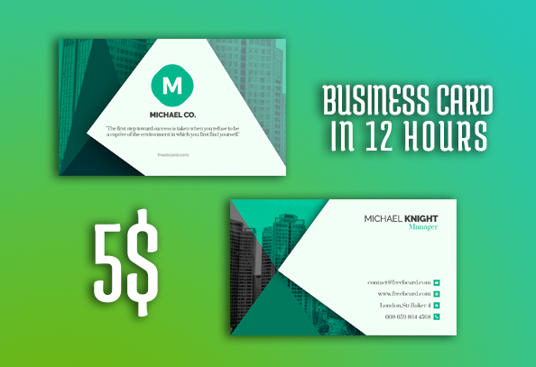 Business Card, Carte de visite In 12 Hours for $5 - SEOClerks