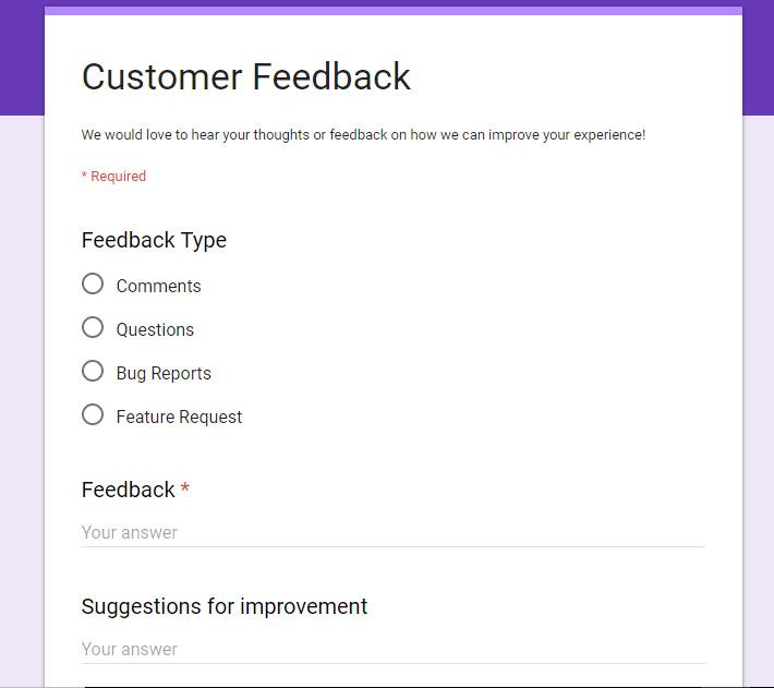 Customer Feedback Form for $5 - SEOClerks