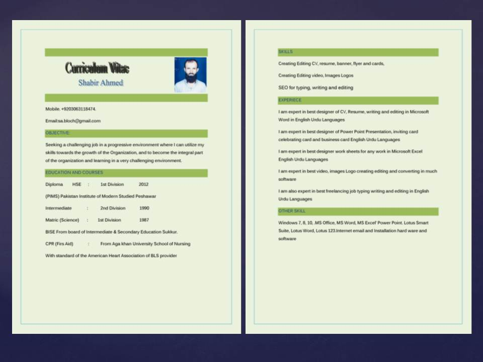 Resume CV writing editing and updating in MS word for $25 - SEOClerks