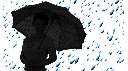 venditore successo vendi ombrelli quando piove