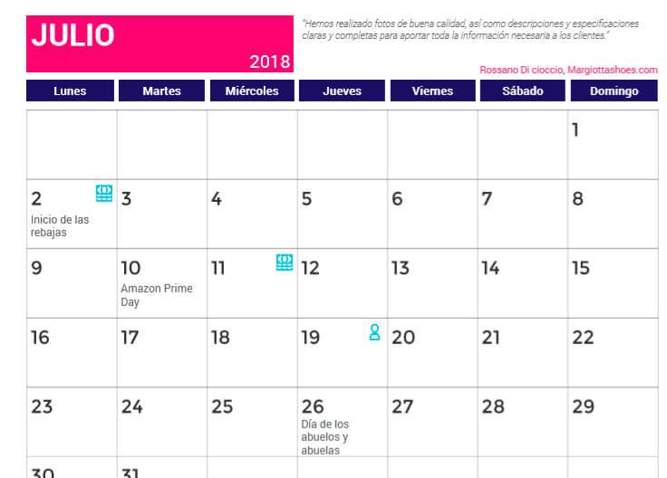 Calendario Ecommerce Prestashop