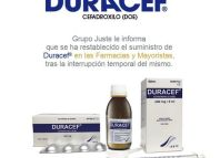 Aviso restablecimiento del suministro de Duracef® (Cefadroxilo)