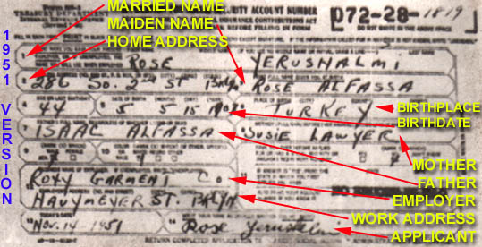 Form SS-5 A Useful Genealogical Resource - social security form