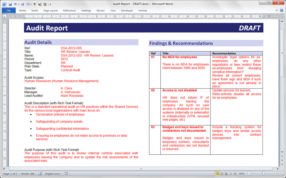 audit findings template - 28 images - 37 brilliant audit report - auditing report format