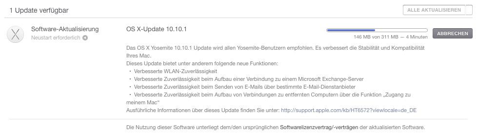 yosemite OS X 10.10.1