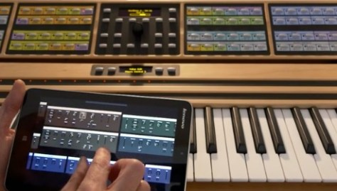 nonlinear synth on tablet