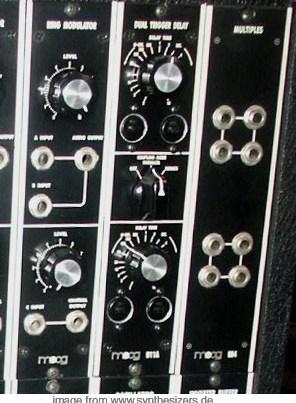 moog modular synthesizer system trigger delay ring modulator