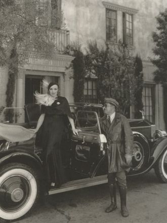 "Director Josef von Sternberg, b. Jonas Sternberg, gave Marlene Dietrich this 1931 forest green Rolls Royce as a gift. Her chauffeur, Briggs—perfect name—carried a set of revolvers to protect his famous employer. When Dietrich traveled to Europe, she sent her Rolls and Briggs in advance. David Niven notes in his excellent autobiography, ""The Moon's a Balloon"" that Dietrich supplied Briggs with a mink trimmed uniform, which, I suppose, qualifies Briggs as Hollywood's first metrosexual chauffeur-bodyguard."