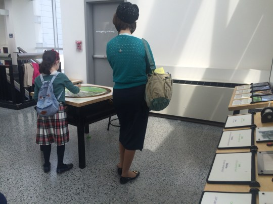 Hasidic mother and daughter enjoy the Liberty Science Center. But is it safe for them to use the restroom?