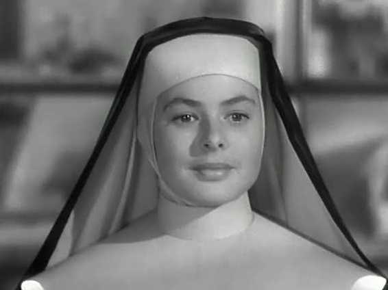 """Ingrid Bergman as the saintly Sister Mary Benedict, """"The Bells of St. Mary's, 1945."""