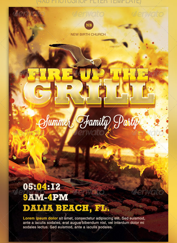 Best Barbecue Flyer Templates - SeraphimChris Graphic Design and