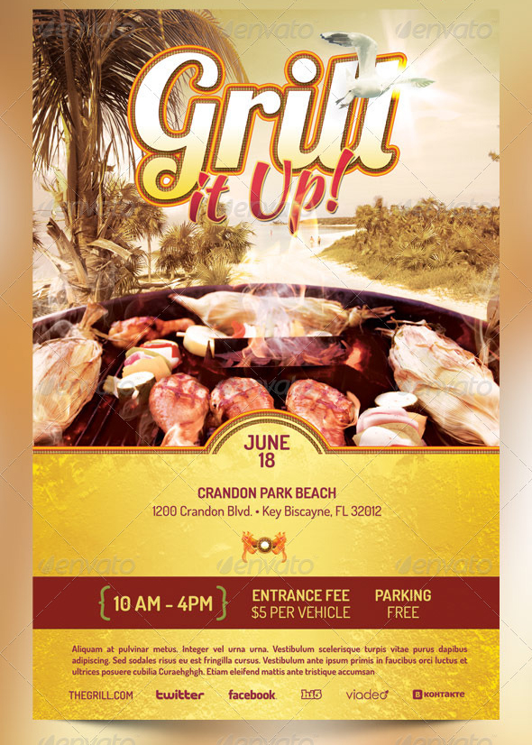 Best Barbecue Flyer Templates - SeraphimChris Graphic Design and - bbq flyer
