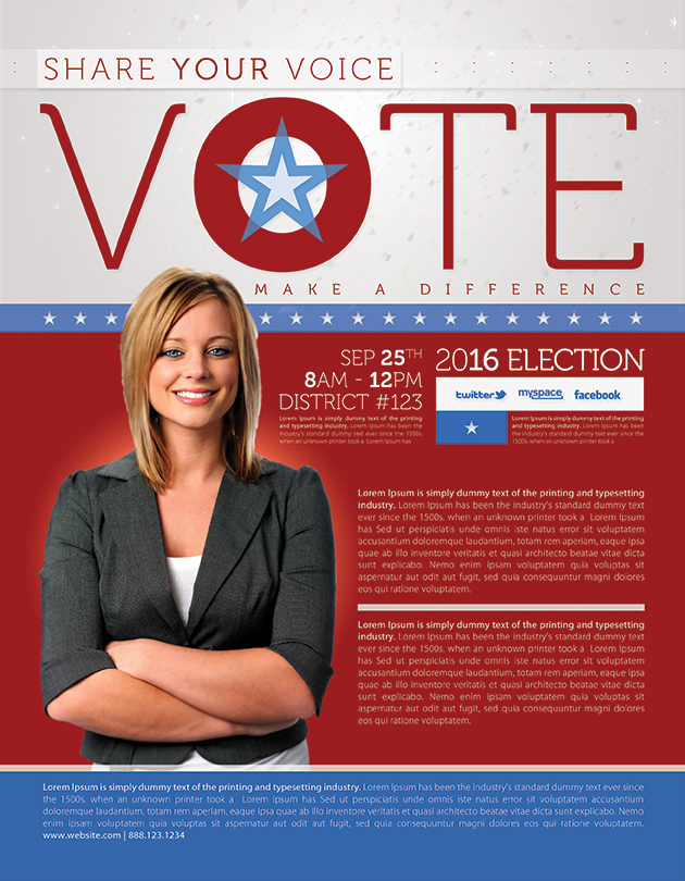 Best Political Flyer Templates - SeraphimChris Graphic Design and - campaign flyer template