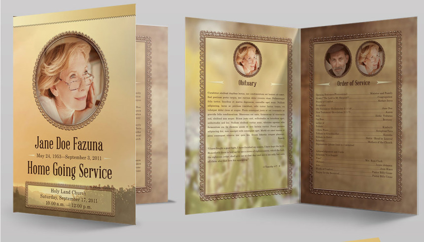 Amazing Funeral Program Booklet Templates - SeraphimChris Graphic - funeral program background